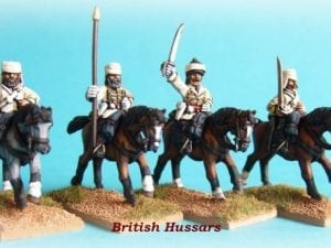 28mm British Hussars