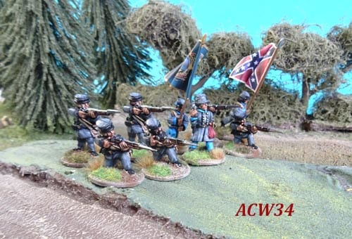 Acw34 Confederate Infantry Regulation Dress Firing Unit
